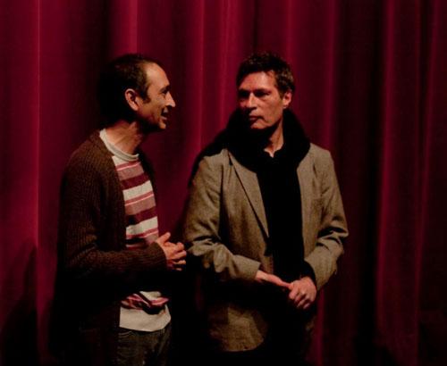 José Antonio Triguero, directeur de A Telon Cerrado et Marc Tamet. Photographie: Javi Jimenez